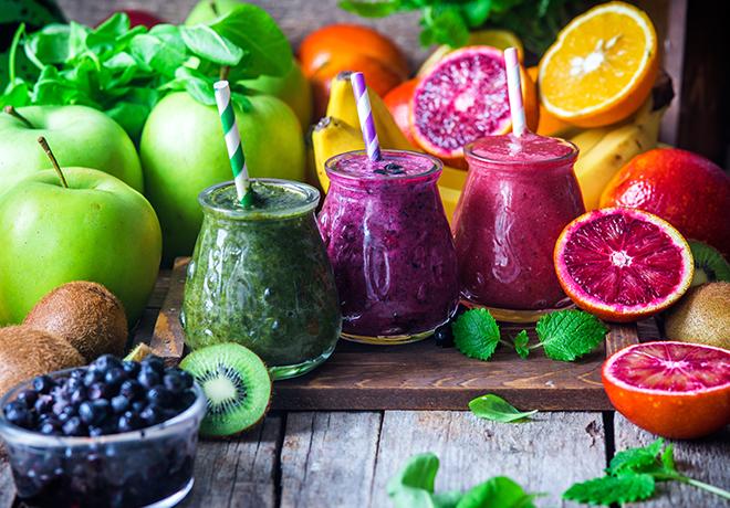 Витаминные смузи – палитра цветов у вас на столе